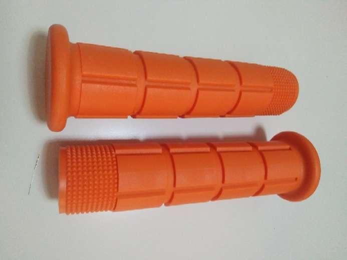 Imagen Puños naranja para manillar bicicleta