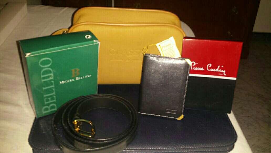 Imagen cartera,cinturon y bolso de aseo de marcas