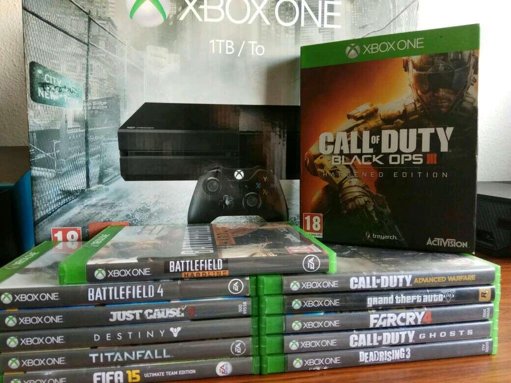 Imagen Xbox One 1 Tb con 12 Juegos