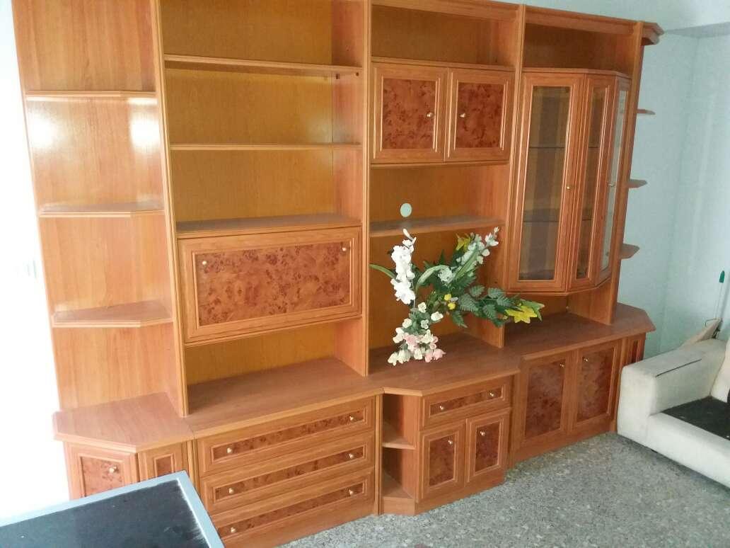 Imagen producto Mueble salon 3,70m. chapa de madera natural. 400€. Se encuentra en Xeraco (Valencia)  2