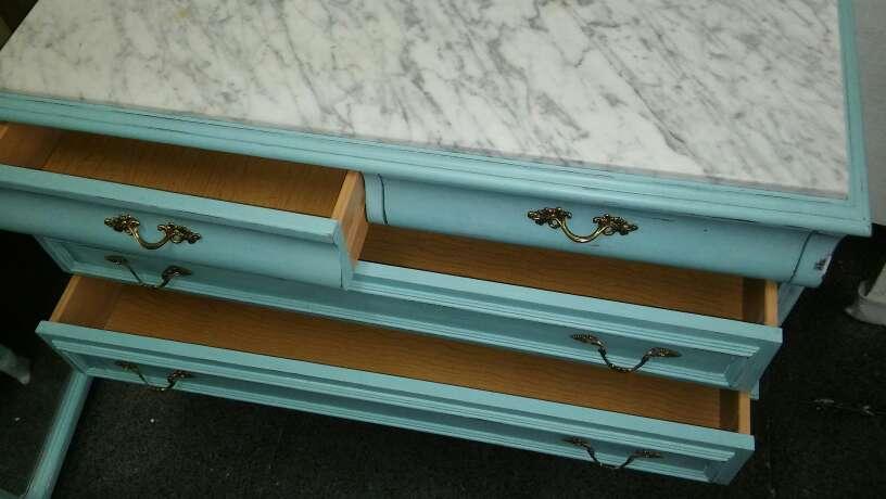 Imagen producto Cómoda Vintage azul turquesa  3