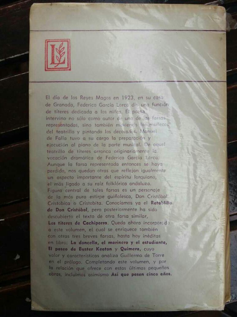 Imagen producto Cinco Farsas Breves seguidas de Así Que Pasen Cinco Años (Lorca) 2