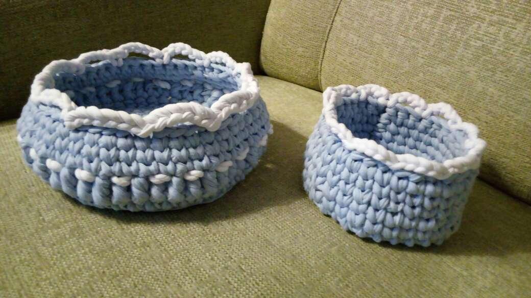 Imagen cest azul crochet