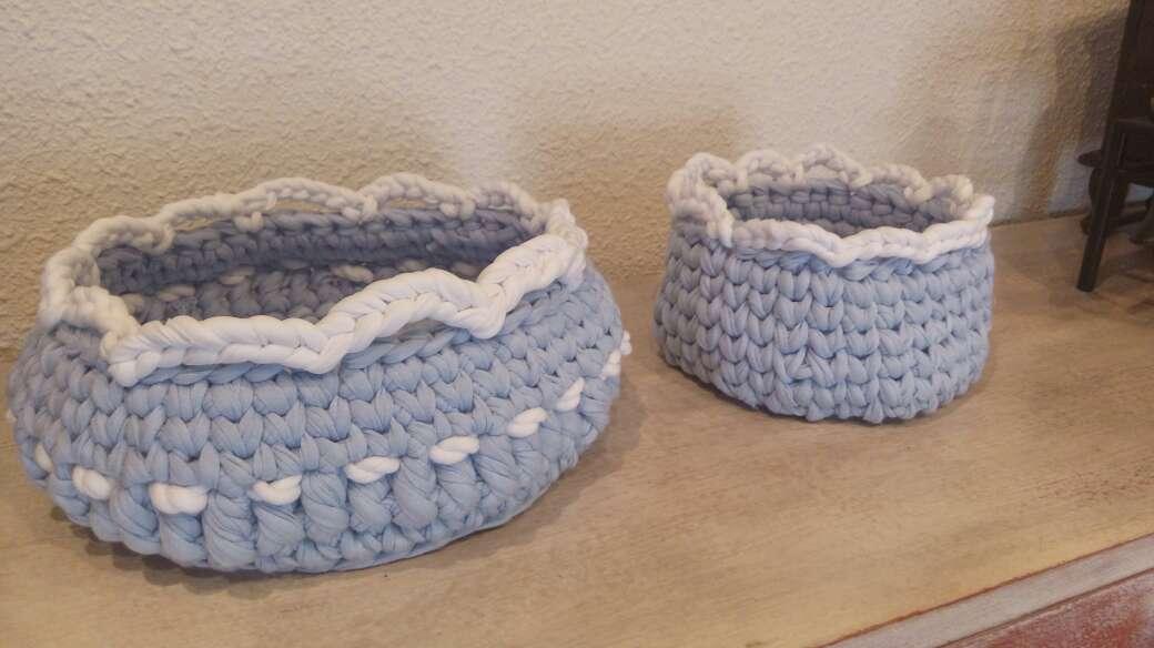 Imagen producto Cest azul crochet 2