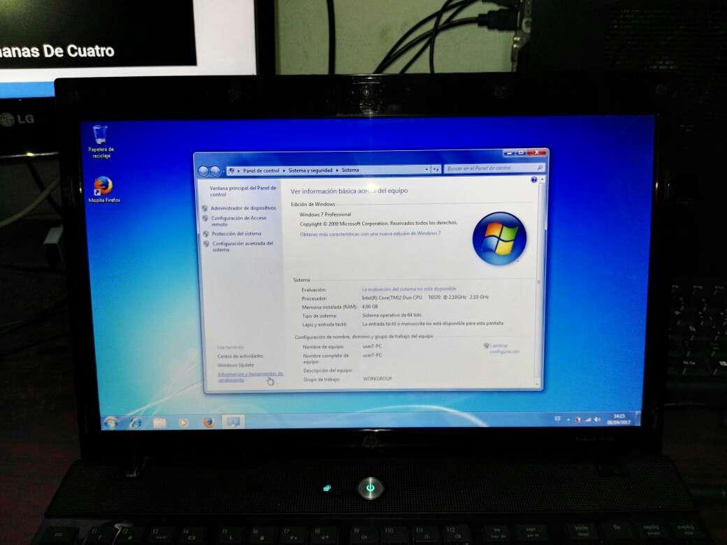 Imagen producto Portátil HP probook 4510s con cargador 4