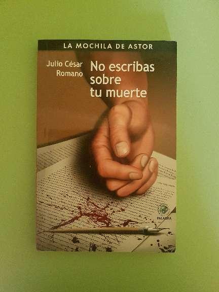 Imagen Libro de lectura: No escribas sobre tu muerte