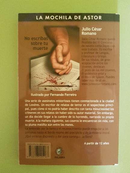 Imagen producto Libro de lectura: No escribas sobre tu muerte  2