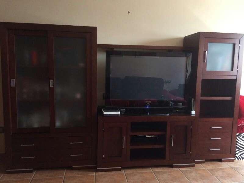 Imagen conjunto de muebles de roble oscuro