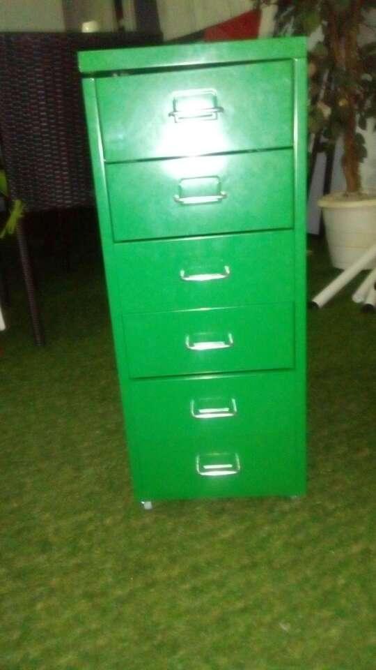 Imagen producto Cajonera verde metal ikea nueva 2
