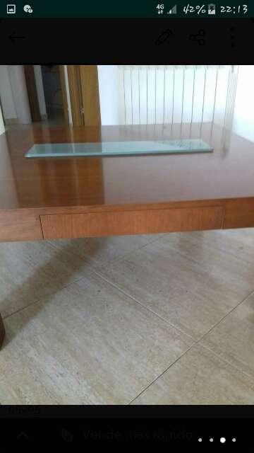Imagen producto Mesa baja madera maciza con cajon  3