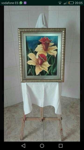 Imagen cuadro flores amarillas