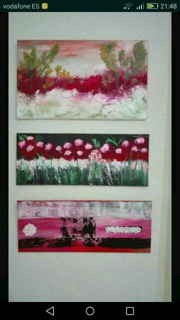 Imagen cuadro flores salvajes