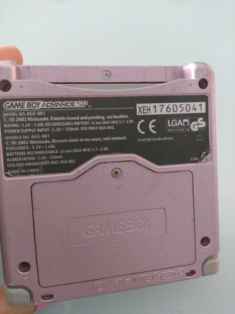 Imagen GameBoy Avance Rosa