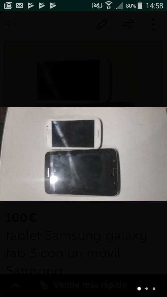 Imagen tablet y Samsung galaxy trans neo