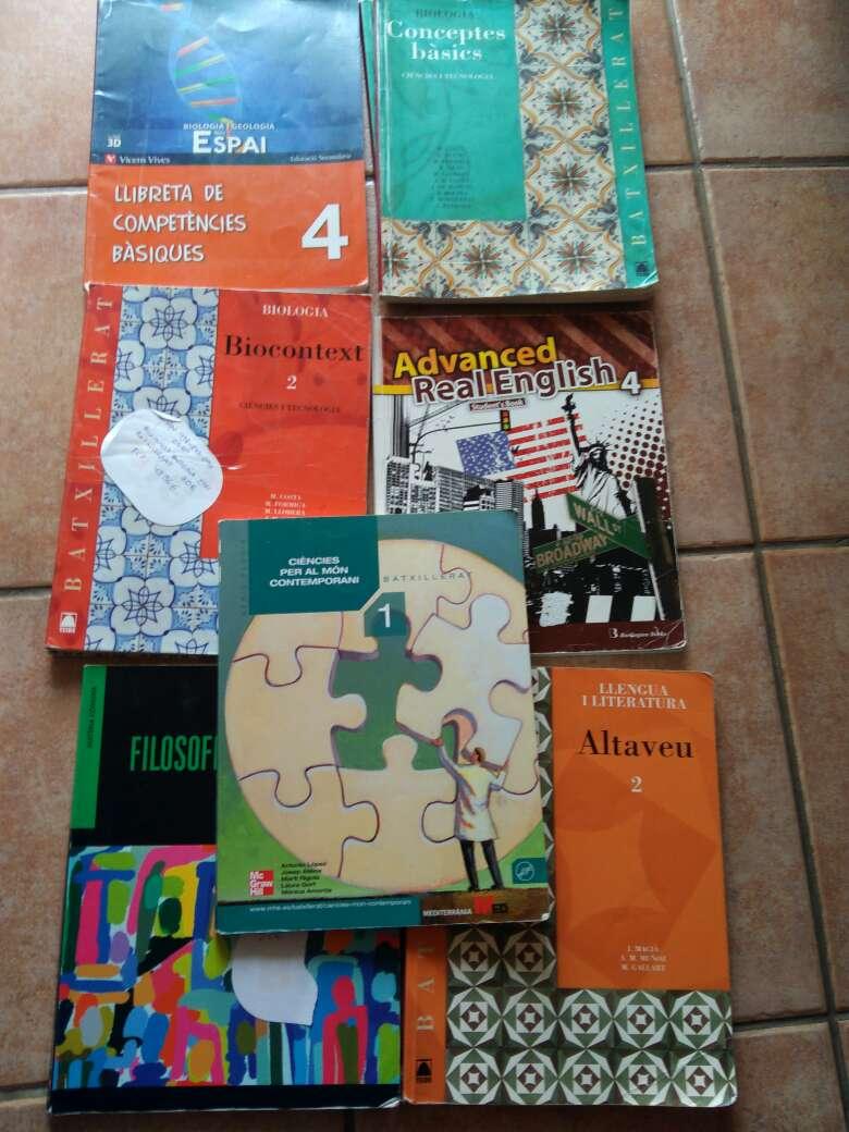 Imagen Libros 2bachilletato y Eso