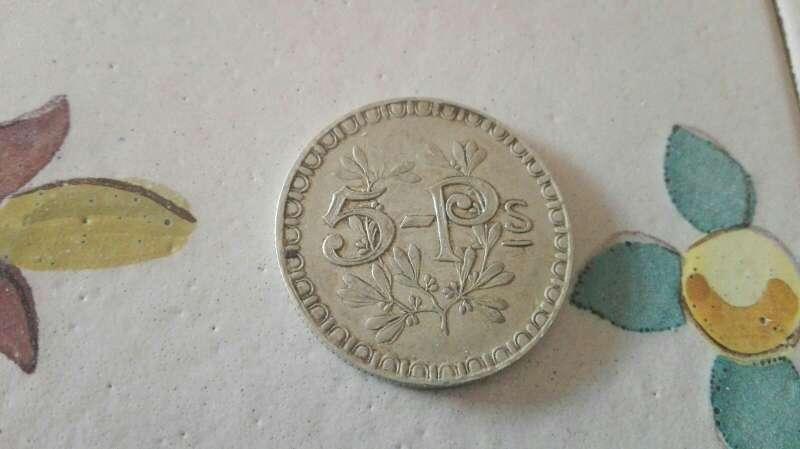 Imagen producto Moneda de plata antigua de cinco pesetas de casino  2