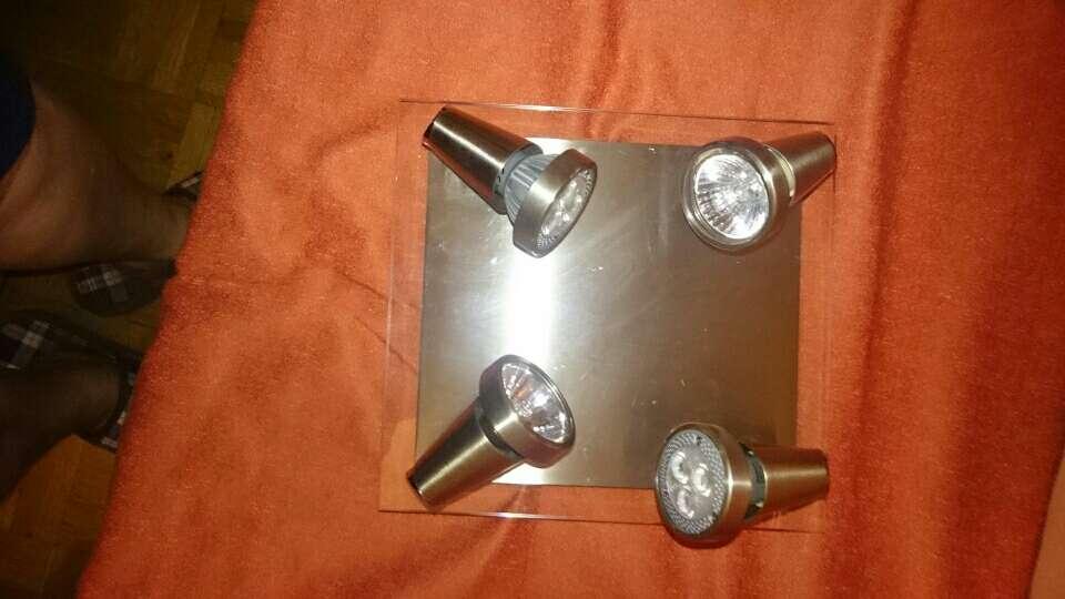 Imagen producto Platón luces Led  poco uso acero inoxidable 2