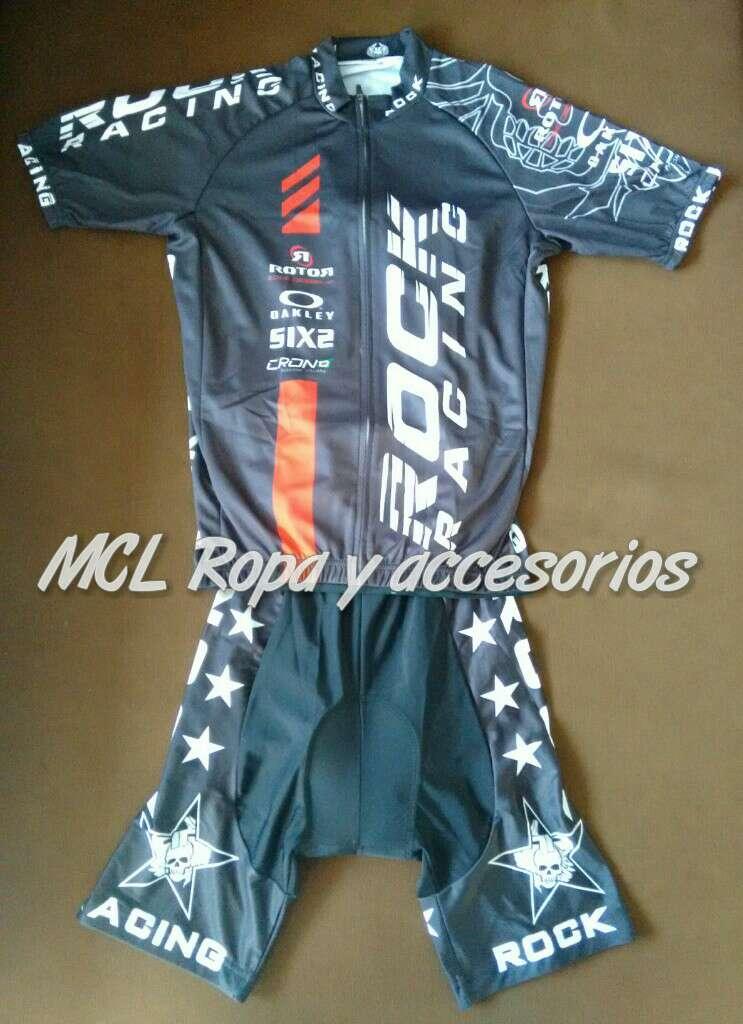 Imagen A estrenar maillot + cullote rock racing
