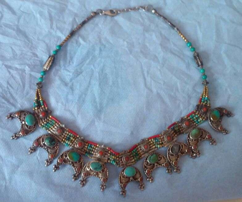 Imagen collar antiguo de la India plata 925