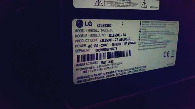 Imagen Televisor LG LED 42