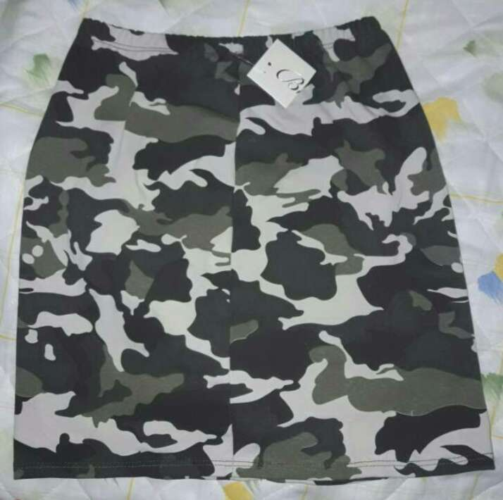 Imagen falda camuflaje niña