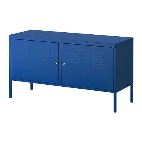 Imagen producto Mueble mesa TV/armario  azul de metal PS Ikea 2