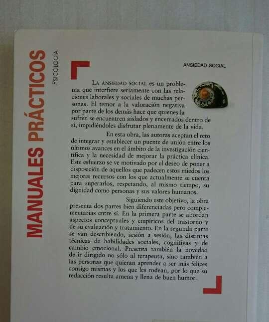 Imagen producto Libro Psicología: Ansiedad Social 2