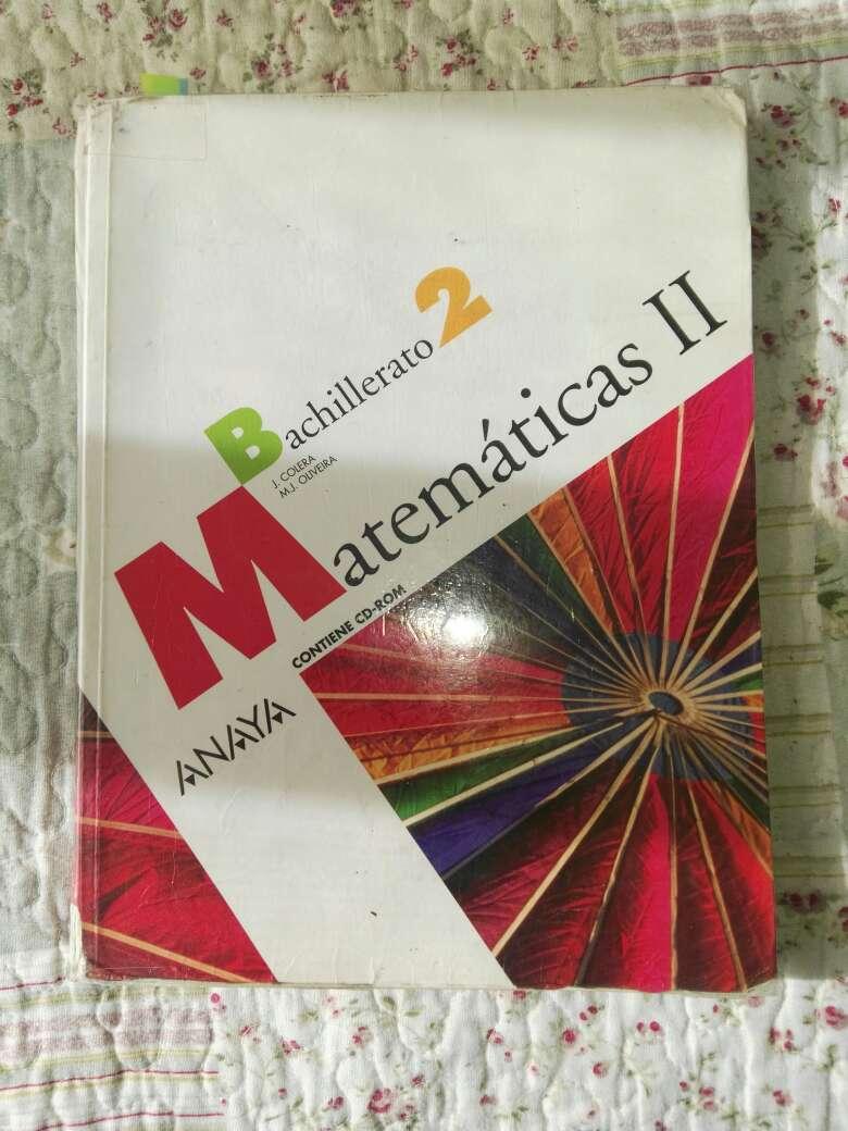 Imagen Libro Matemáticas II 2°bachillerato