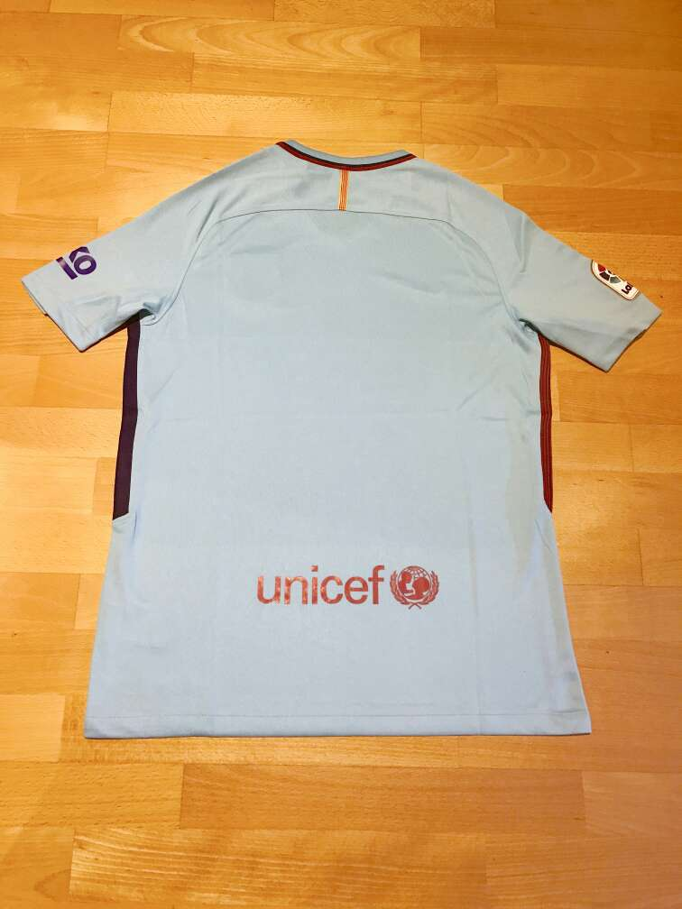 Imagen producto Camiseta F. C. Barcelona 2017-2018 (Segunda equipación) 3