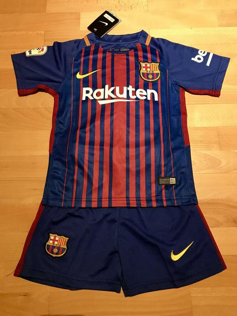 Imagen Equipación F. C. Barcelona 2017-2018 para niños (Primera equipación)