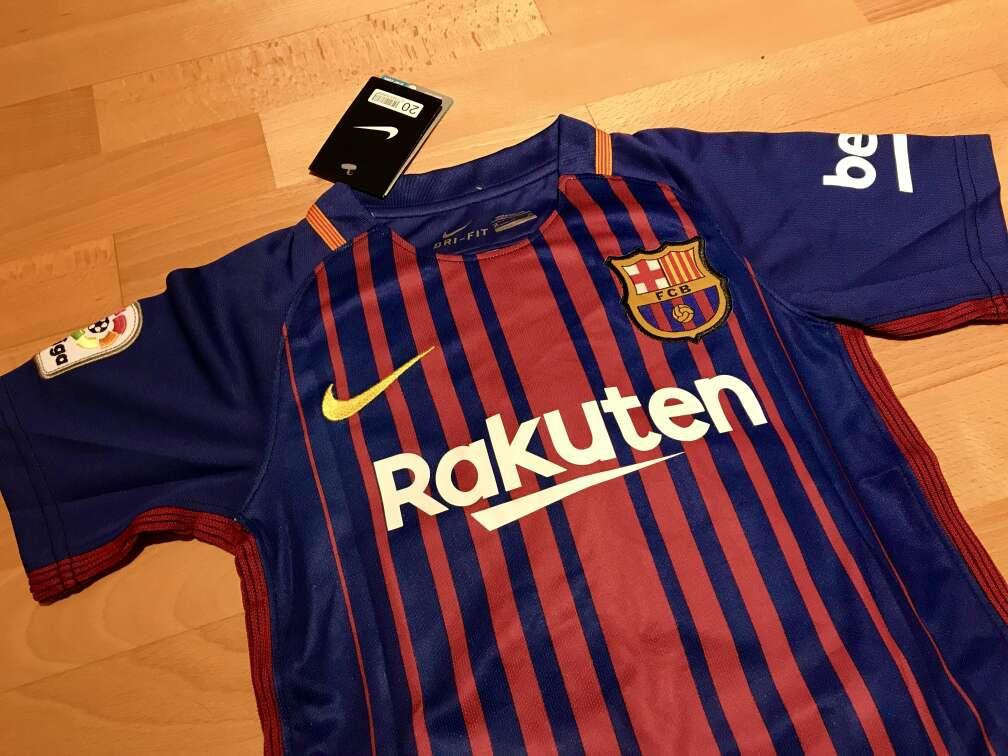 Imagen producto Equipación F. C. Barcelona 2017-2018 para niños (Primera equipación) 2