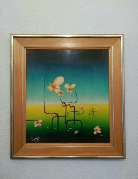 Imagen Cuadro flores abstracto