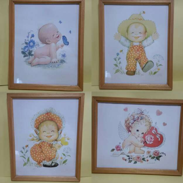 Imagen conjunto de cuadros infantiles