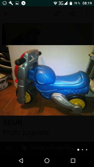 Imagen moto juguete