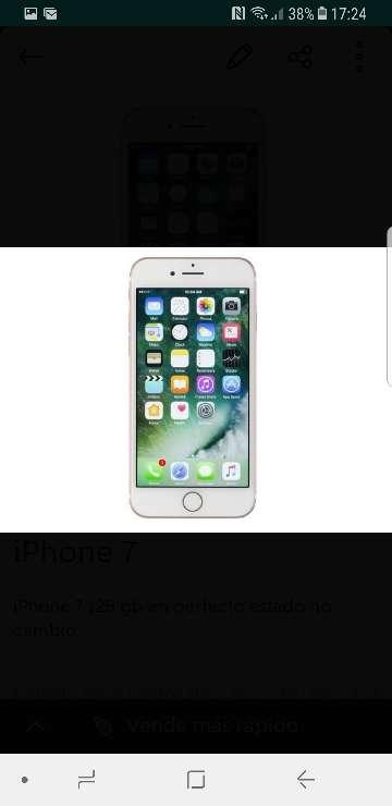 Imagen iPhone 7 128 gb en muy bueno estado