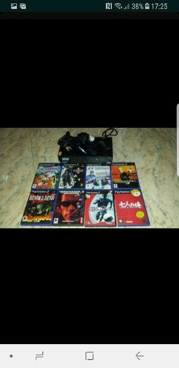Imagen ps 2 con juegos i mandos i ps3 con juegos