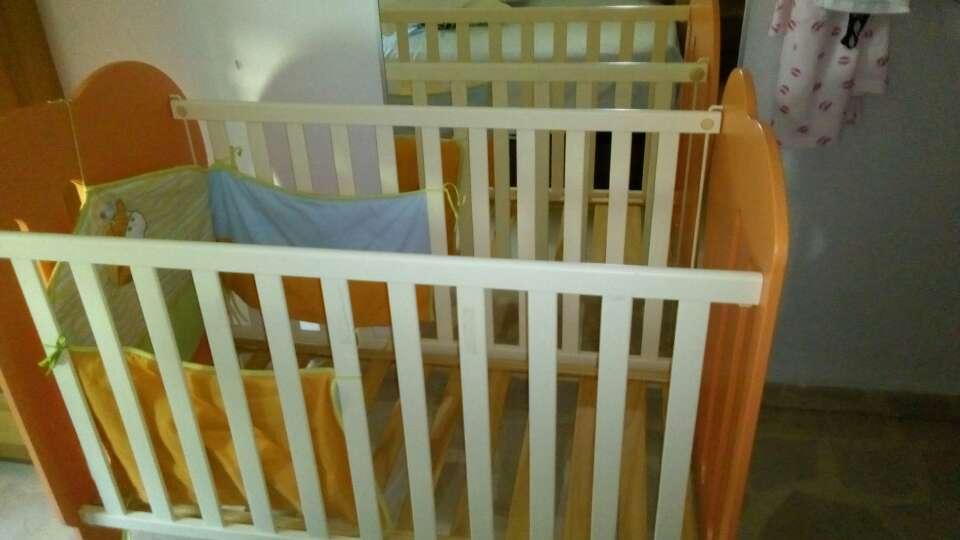 Imagen producto Cuna bebé con protector y colchón con su funda 2