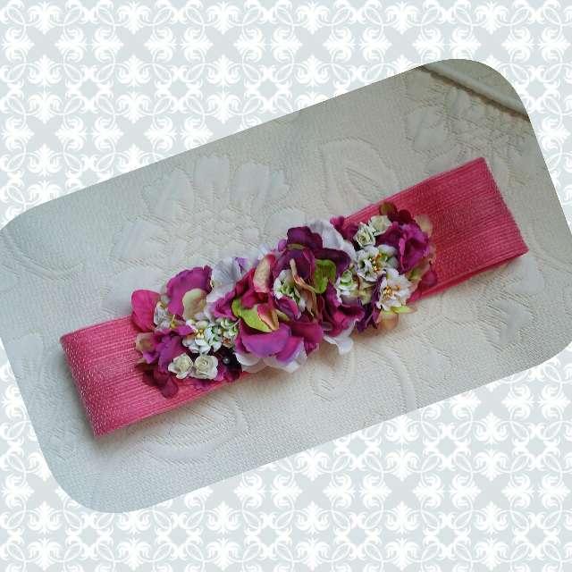 Imagen cinturon de flores