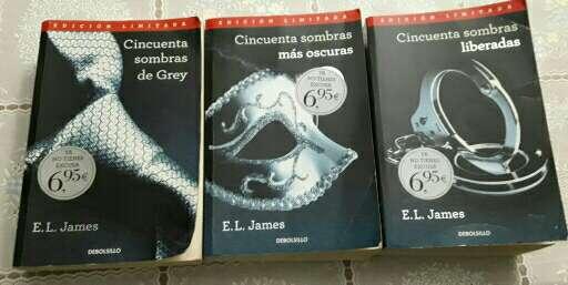 Imagen libros saga 50 sonbras de grey