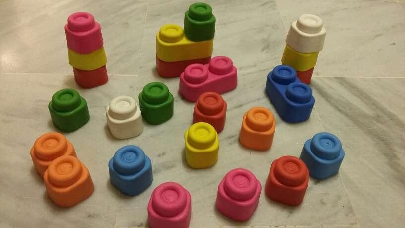 Imagen Lote juguetes bebé : bloques construcción y puzzles
