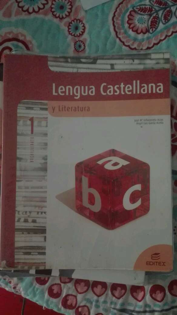 Imagen libro de lengua y literatura 1 bachiller