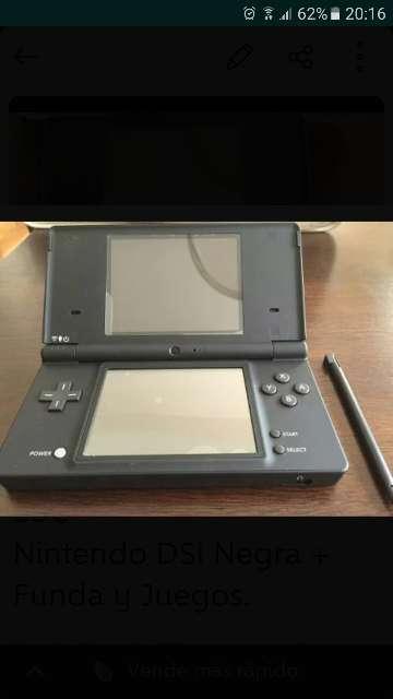 Imagen Nintendo DSi negra + Funda + 6 Juegos.