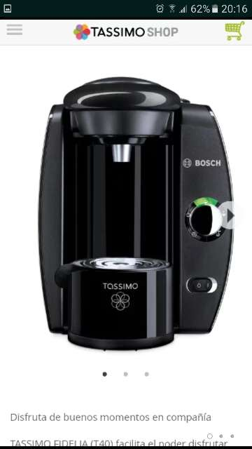 Imagen producto Cafetera Tassimo T40 1