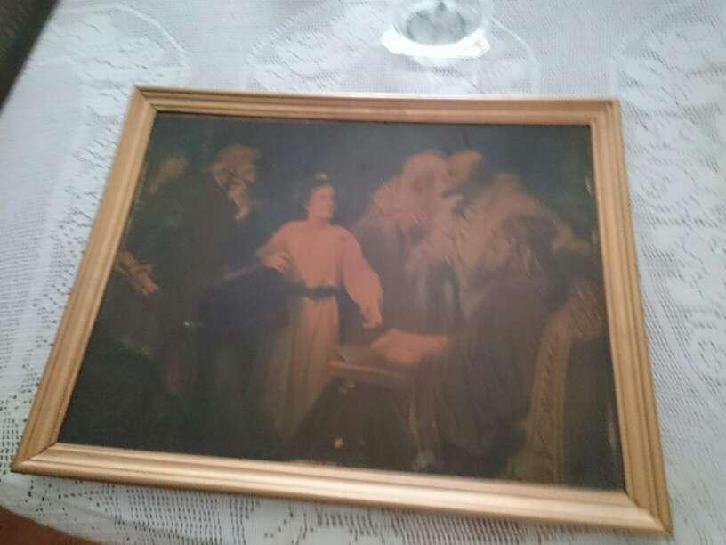 Imagen cuadro de niño jesus con los doctores en la iglesia