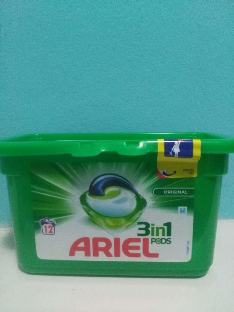 Imagen ariel en capsula 12 lavados