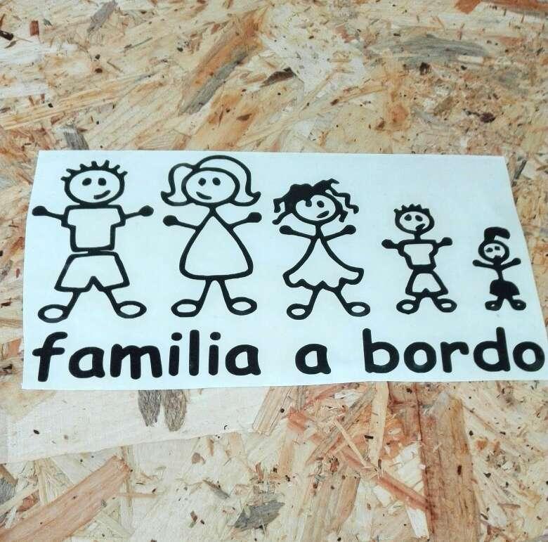 Imagen Pegatinas stickers Familia a bordo