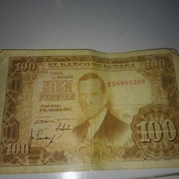 Imagen billetes 100 1953