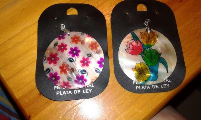 Imagen producto Colgantes de nacar..pintados a mano..preciosos...ideal para  3