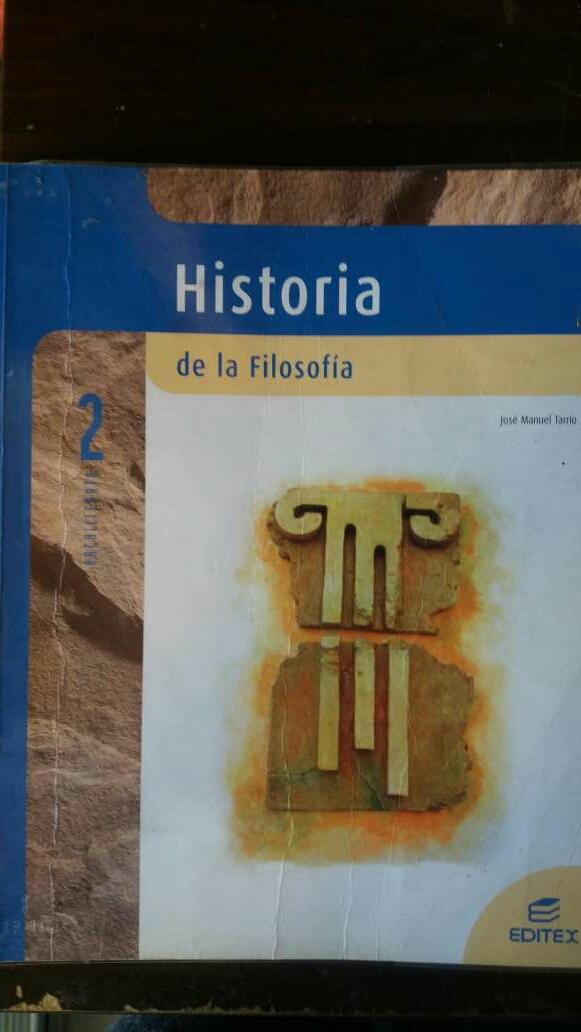 Imagen libro de historia de la filosofía 2 bachillerato