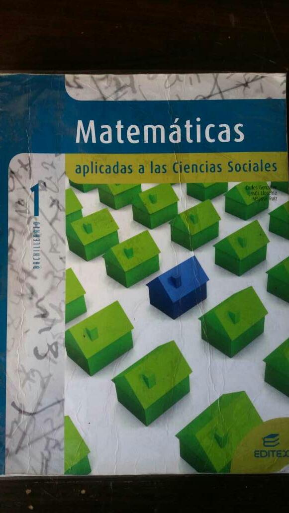 Imagen libro matemáticas 1 bachillerato